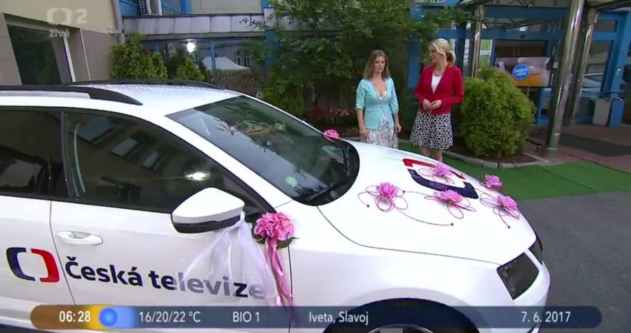Svatební auta v pořadu  ČT Dobré ráno