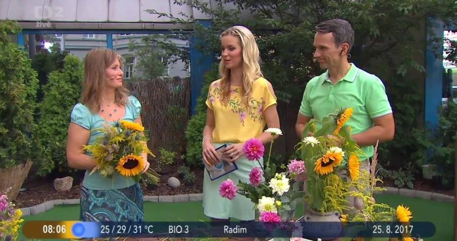 Letní kytice v ČT Dobré ráno