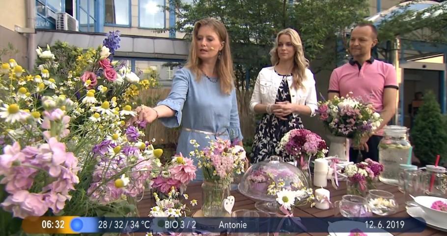 Luční květiny v Dobrém ránu České televize