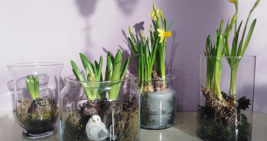 Jarní dekorace ve skle